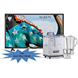 LED TV 32 Inches LUCKYO LET 327 Full HD LED TV With Free Juicer Mixer Grinder