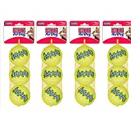 KONG Air Squeakers Tennis Ball Dog Toy 12 Medium Balls