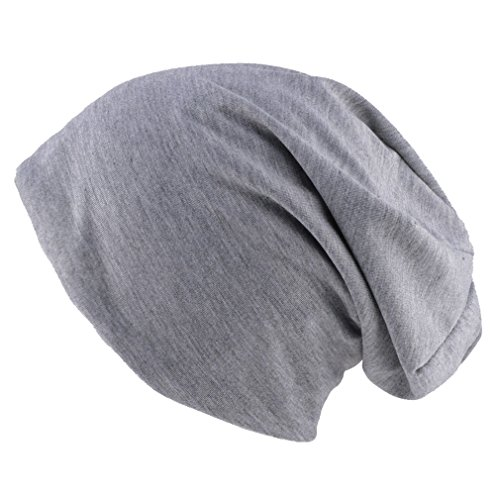 Thenice Berretto Unisex Jersey Beanie Hat Sportivo (Grigio chiaro)