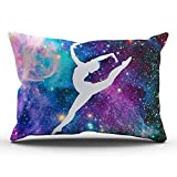 yiyuanyuantu Custom Hot Romantic Colorful Gymnastic with Galaxy Pattern Lumbar Pillowcase Rectangle Zippered One Side Printed 20x30 Inches Throw Pillow Case Cushion Cover