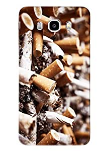 Blue Throat Used Ciggrates Hard Plastic Printed Back Cover/Case For Samsung Galaxy J7 2016