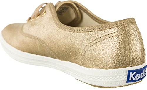 Keds Ch Met Leather Gold, Chaussures à Lacets Femme Or - Doré