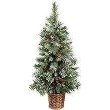 WeRChristmas - Albero di Natale artificiale (abete blu scandinavo) con pigne e bacche, in vaso (Vaso Albero Di Natale)