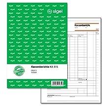 Sigel KA515 Cash Report A5 – 50 Sheets Pack of 1