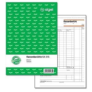 SIGEL KA515 Kassenbericht A5, 50 Blatt 1 Stück