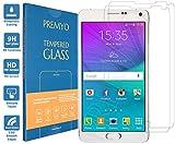 PREMYO 2 Stück Panzerglas für Samsung Galaxy Note 4 Schutzglas Display-Schutzfolie für Note 4 Blasenfrei HD-Klar 9H 2,5D Echt-Glas Folie kompatibel für Samsung Note 4 Gegen Kratzer Fingerabdrücke