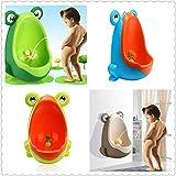 Frosches Kunststoff-Urinal für Jungen, tragbar Style 1 (dunkelgrün)