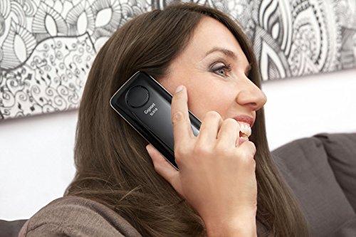 Gigaset SL910 Telefon - Schnurlostelefon / Mobilteil - mit Farbdisplay / Design Telefon / schnurloses Telefon - Freisprechen - schwarz - 10
