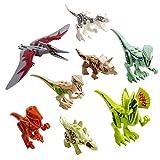 Shayson Dinosaur Giocattolo, Dinosaur Building Blocks Dinosaur Miniature Action Figures 8pcs,Giocattolo Regalo per Bambini Festa di Compleanno Regalo di Natale