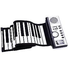 Flexible 61 Teclas Flexibles de Silicona Enrollable Piano Digital (Negro)
