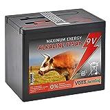 Voss.farming Batterie sèche Alcaline 175 Ah 9V pour clôture électrique -Grand modèle