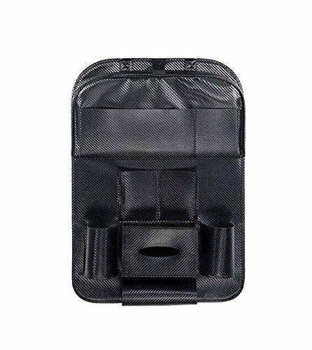 NUO-Z Autositz Zurück Protector - Storage Protection Zusammenklappbaren Organizer Mit Mehreren Funktionen, Kinder Kick Matte Auto Auto Protector,Black,L -
