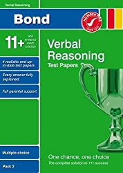Bond 11+ Test Papers Verbal Reasoning Multiple-Choice Pack 2 by Frances Down (2009-07-10)