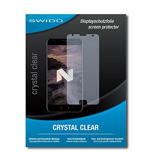 SWIDO Schutzfolie für Ulefone Power 2 [2 Stück] Kristall-Klar, Hoher Härtegrad, Schutz vor Öl, Staub & Kratzer/Glasfolie, Bildschirmschutz, Bildschirmschutzfolie, Panzerglas-Folie