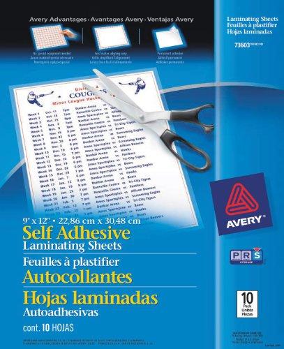 avery-self-adhesive-laminating-sheets