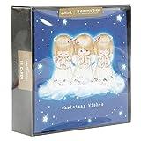 Hallmark Weihnachtskarten mit Spruch in Glitzer-Box, 18 Stück