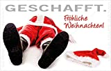 Witziger Kühlschrankmagnet Magnet Magnetschild Weihnachten Burn-Out Nikolaus
