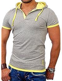 Reslad Kapuzenshirt Herren Slim Fit T-Shirt mit Kapuze Sommer-Shirt Männer Hoodie RS-5033