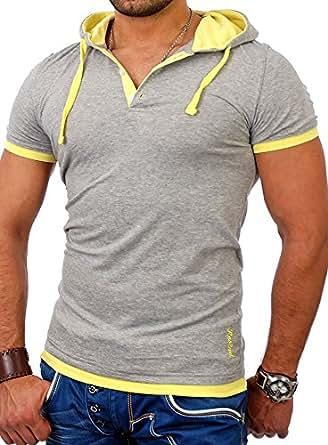 reslad kapuzenshirt herren slim fit t shirt mit kapuze. Black Bedroom Furniture Sets. Home Design Ideas