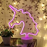 Yaeer Neon Signs LED Light Sign mit Boden für Home Party Geburtstag Schlafzimmer Nachttisch, Tisch Dekoration Kinder Geschenke, Einhorn 2.00W