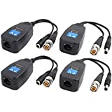 4pcs AC/DC 12V-48V CVI TVI AHD Passive HD Video Balun Transceiver