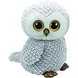 TY - Beanie Boos Owlette, búho, 40 cm, color gris (United Labels Ibérica 36840TY)