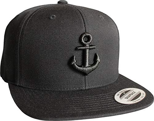 Cap: Anker- Flexfit Snapback - Urban Streetwear - Männer Mann Frau-en - Baseball-cap - Hip-Hop Rap - Mütze - Kappe - Kapitän Seemann - Angler - Hamburg - Basecap - Vintage Retro