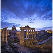 Cuadro sobre lienzo 100 x 100 cm: Forum Romanum in Rome, Italy de Jan Christopher Becke - cuadro terminado, cuadro sobre bastidor, lámina terminada sobre lienzo auténtico, impresión en lienzo