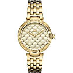 JBW Gala Reloj de mujer diamante cuarzo suizo 34mm dial dorado J6356E