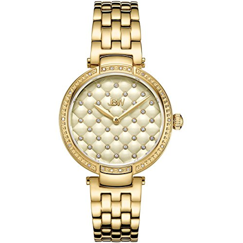 JBW Women's Gala Diamond 34mm 18K Gold Plated Case Swiss Quartz Watch J6356E