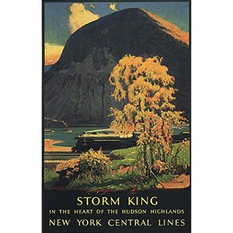 STORM KING IN THE HEART HUDSON HIGHLANDS NEW YORK CENTRAL LINES TRAIN MOUNTAIN AMERICAN LARGE VINTAGE POSTER REPRO by WONDERFULITEMS