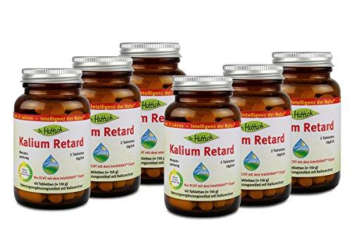 Kalium Retard - Das Nahrungsergänzungsmittel Kalium Retard versorgt Sie mit nur zwei Tabletten pro Tag rund um die Uhr mit 900 mg Kalium - Von Dr. Hittich (6-Monatspackung)