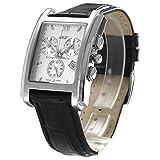 BUW Uhr Herren Chronograph mit Leder-Armband Swiss Made u830eb