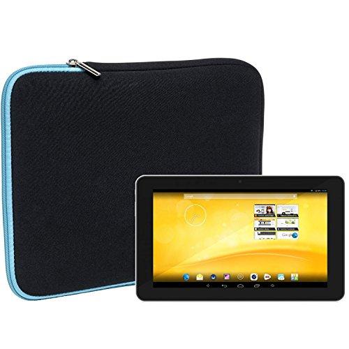Slabo Tablet Tasche Schutzhülle für TrekStor Volks-Tablet 3G Hülle Etui Case Phablet aus Neopren – TÜRKIS/SCHWARZ