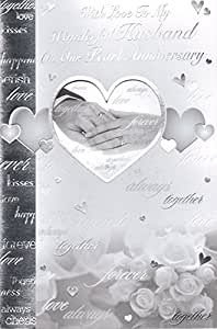 """Mann Pearl 'Glückwunschkarte zum Hochzeitstag, With Love To My Wonderful Husband On Our Pearl Anniversary """""""