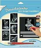 Mammut 143002 - Kratzbilder-Dauerkalender Tiere, 6 Bilder je ca. 10,5 x 14,4 cm, silber