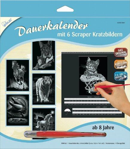 zbilder-Dauerkalender Tiere, 6 Bilder je ca. 10,5 x 14,4 cm, silber (Bild Einen Tag Kalender)