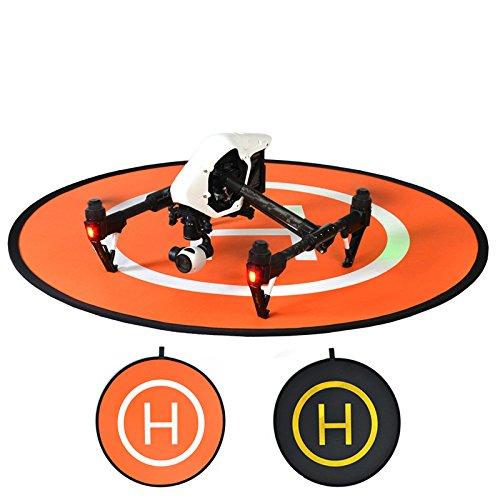 Artistic9 Drone Abschussrampe für DJI Mavic Delusion 3 4 Inspire 1-75cm Drone Landing Pad Wasserdichtes Faltbares Reflektierende Landing Pad (Orange)