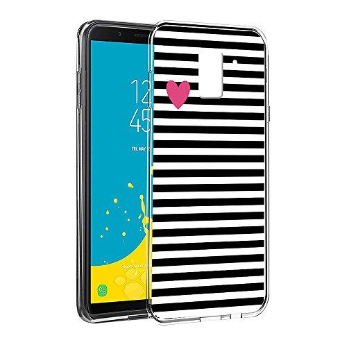 Funda Samsung Galaxy J6 2018, Eouine Cárcasa Silicona 3d Transparente con  Dibujos Diseño Suave Gel 9d3304ee4d10
