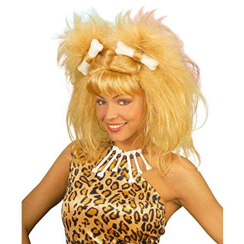 Peluca rubia Wilma pelo postizo carnaval Picapiedra