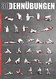 Dehnübungen Poster DIN A1 - Anleitung zum Stretching und Dehnen