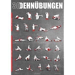 WINDHUND Übungsposter Stretching – großes DIN A1 Poster mit 30 Dehnübungen