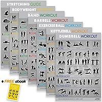 Alpine Fitness Ejercicio & Fitness Posters   Amplio gimnasio laminado planificador cartas para entrenamientos de gran