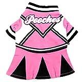 smalllee _ Lucky _ store Kleiner Hund Kleidung für Mädchen Sommer Pooches Kleid, Rosa und Schwarz