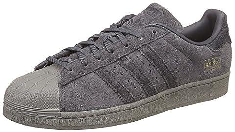 adidas Superstar, Sneakers Basses Homme, Gris (Grey Five F17/Utility Black F16/Utility Black F16), 46 EU