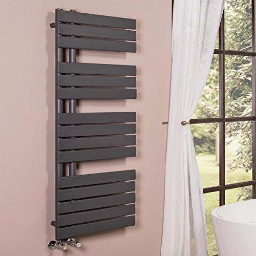 Designer Handtuchheizkörper Badheizkörper 1380x500mm Grau - 7
