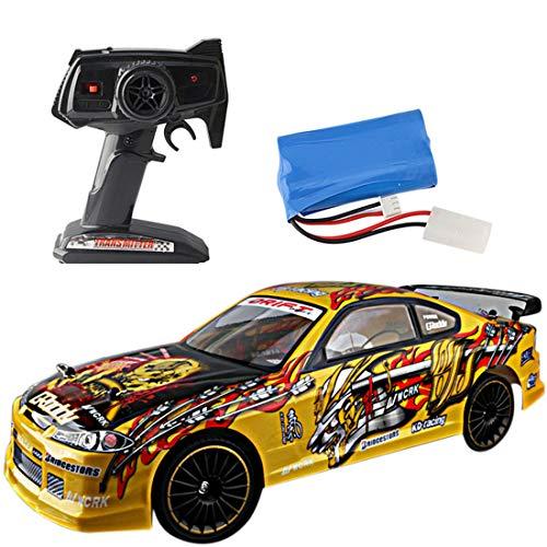 Haunen RC Drift Auto Spielzeug, 1:14 2.4G 4WD RC Fernbedienung Auto Geschwindigkeit Fernbedienung Drift Auto Spielzeug Geschenk für Kinder (Rc-elektro-auto-drift)