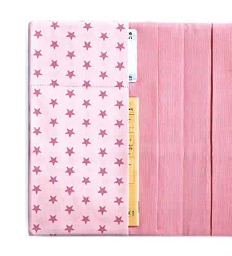 Rosa U Heft mit Chipkartenfach aus Baumwolle