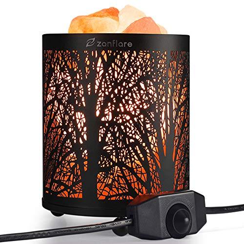 Salzlampe, Zanflare Himalaya Salz Lampe mit Dimmschalter Kristall Lampe Nachttischlampe Atmosphäre Lampe für Dekoration Wohnzimmer Weihnachtsdeko, Schlafzimmer, Deko, Einschlafhilfe, Nachtlicht -