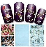 XPartner Christmas Manicure Sticker Fiocco di neve Nail Art Sticker Applique Nail art deco